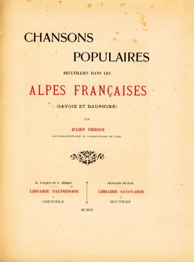 Julien Tiersot Alpes