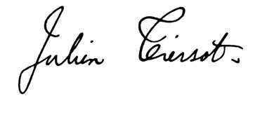 signature Tiersot