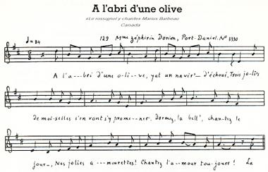 À l'abri d'une olive
