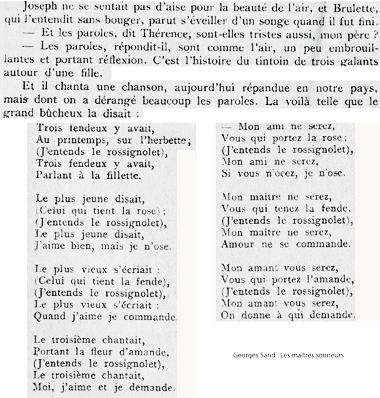 Texte Les maîtres sonneurs George Sand