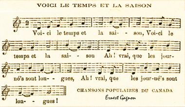 Ernest Gagnon : chansons du Canada
