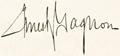 Signature Ernest Gagnon