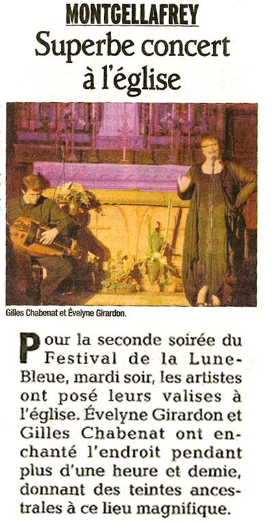 Evelyne Girardon - Gilles Chabenat