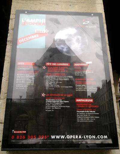 Affiche extérieure opéra