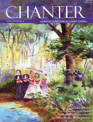 couverture revue Chanter : Évelyne Girardon