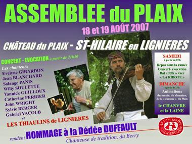 Affiche Plaix 2007