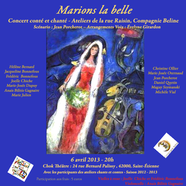 "Spectacle ""Marions la belle"""