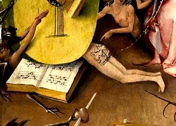 musique écrite sur fesse