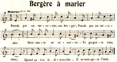 Bergère à marier - Barbillat et Touraine