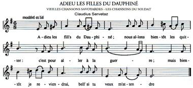 Adieu les filles du Dauphiné