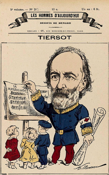 Julien Tiersot Caricature